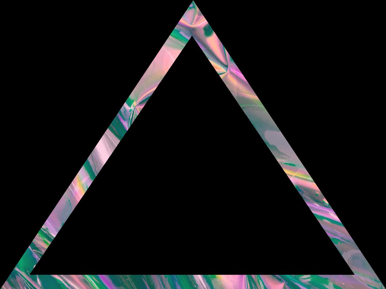 Vaporwave Aesthetic Holographic Triangle Shape Pastel
