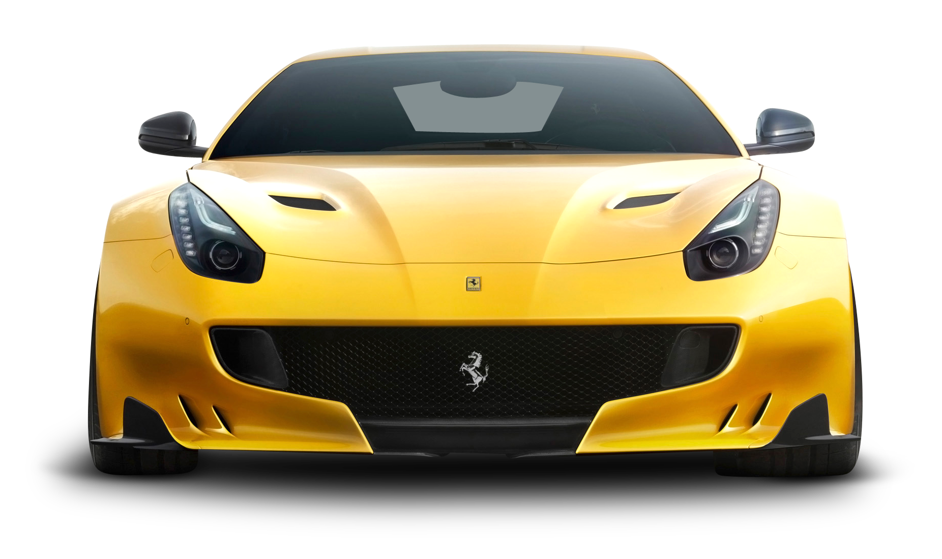 Ferrari F12berlinetta Yellow Car Frontanglefreetoedit