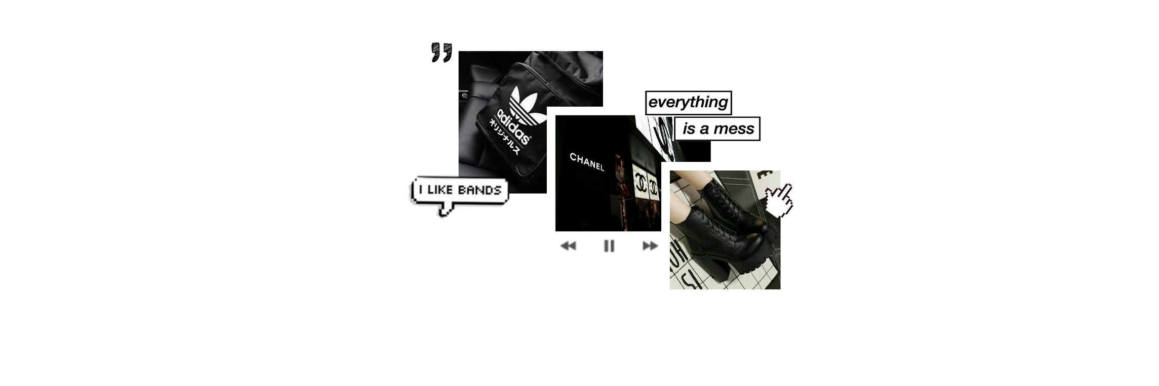 Freetoedit Aesthetic Header Twitterpack Collage Black