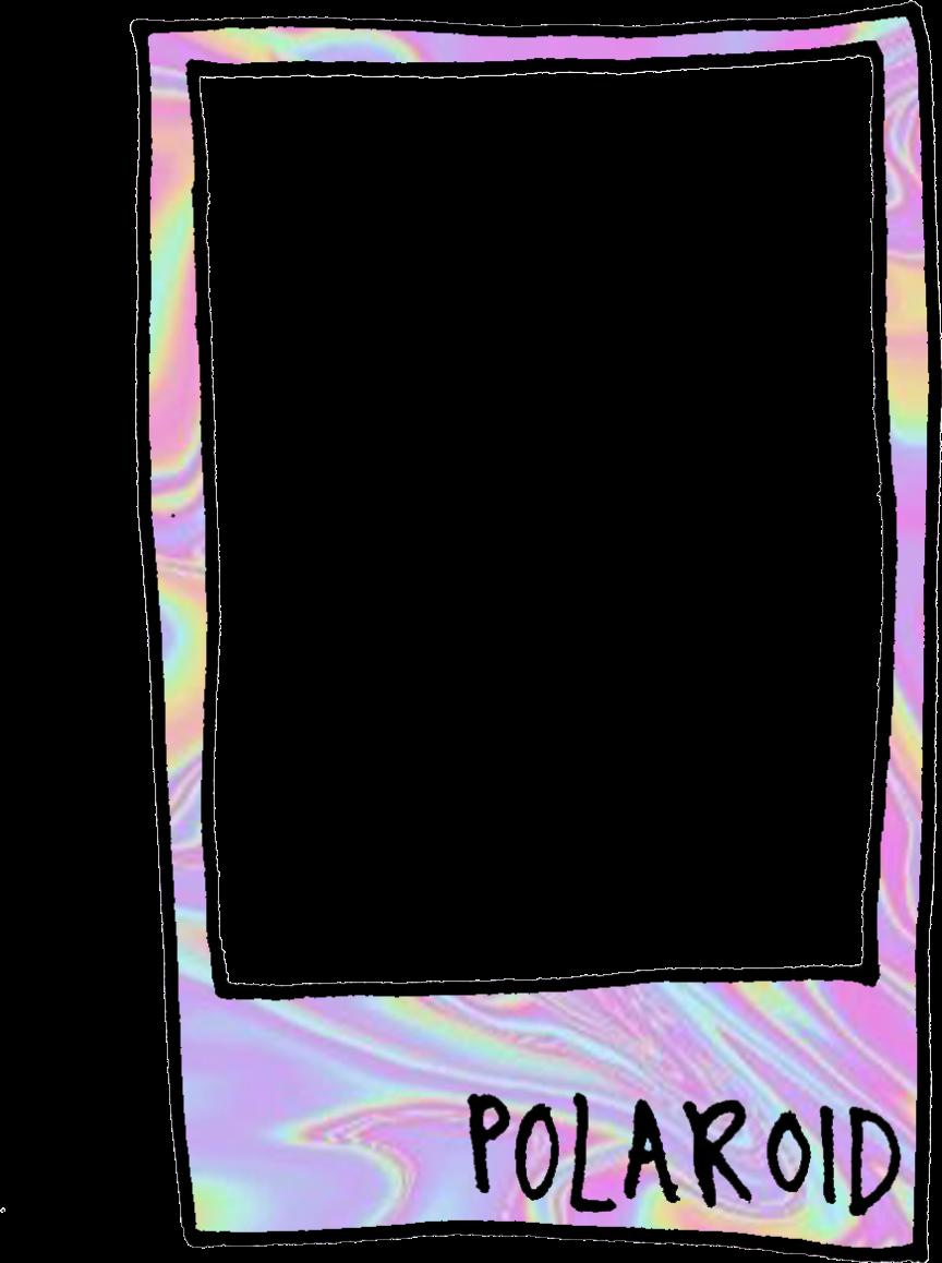 holographic polaroid frame aesthetic Tumblr...