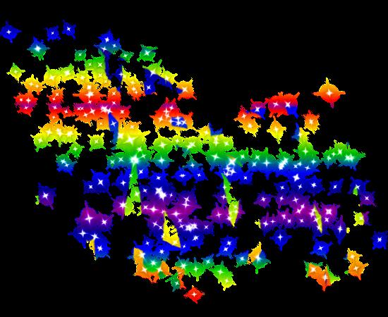 glitter shine rainbow stars purple yellow red green pin...