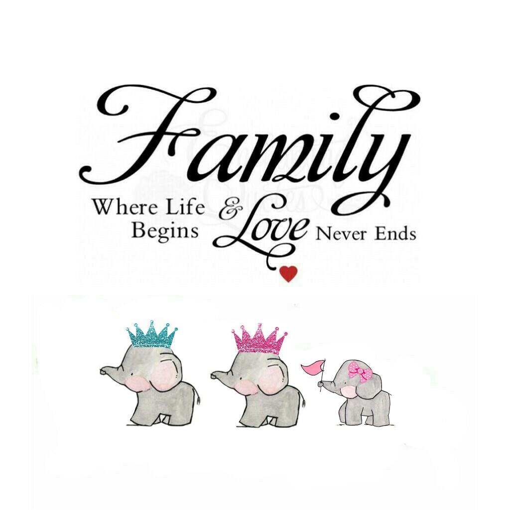 elephant myfamily love mummy daddy daughter