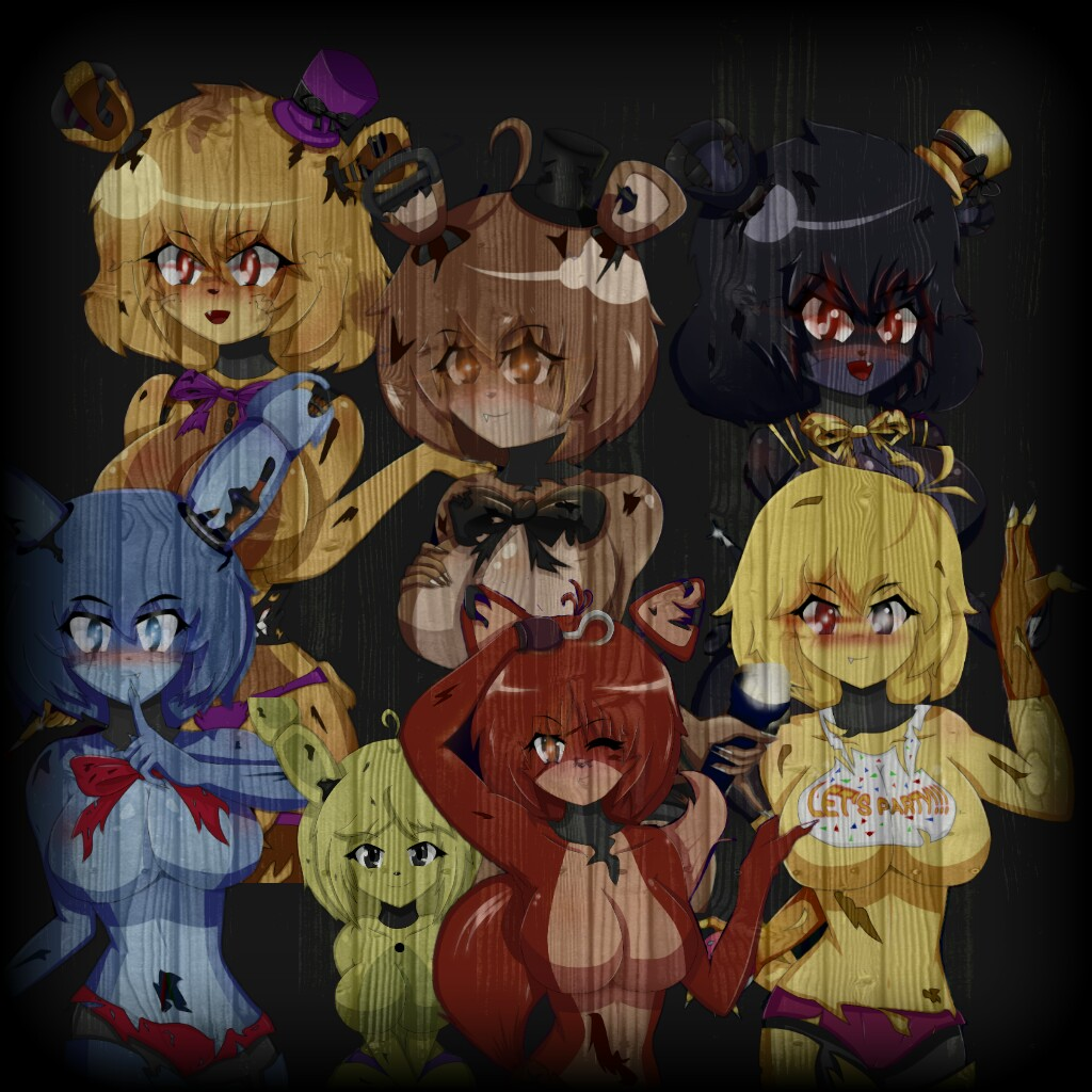 Five Nights In Anime 4 Anime Fnia Fnaf4