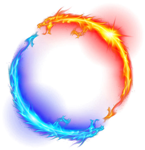 Dragon Fire Ice Light Circle Yellow Blue Magic Ftestick