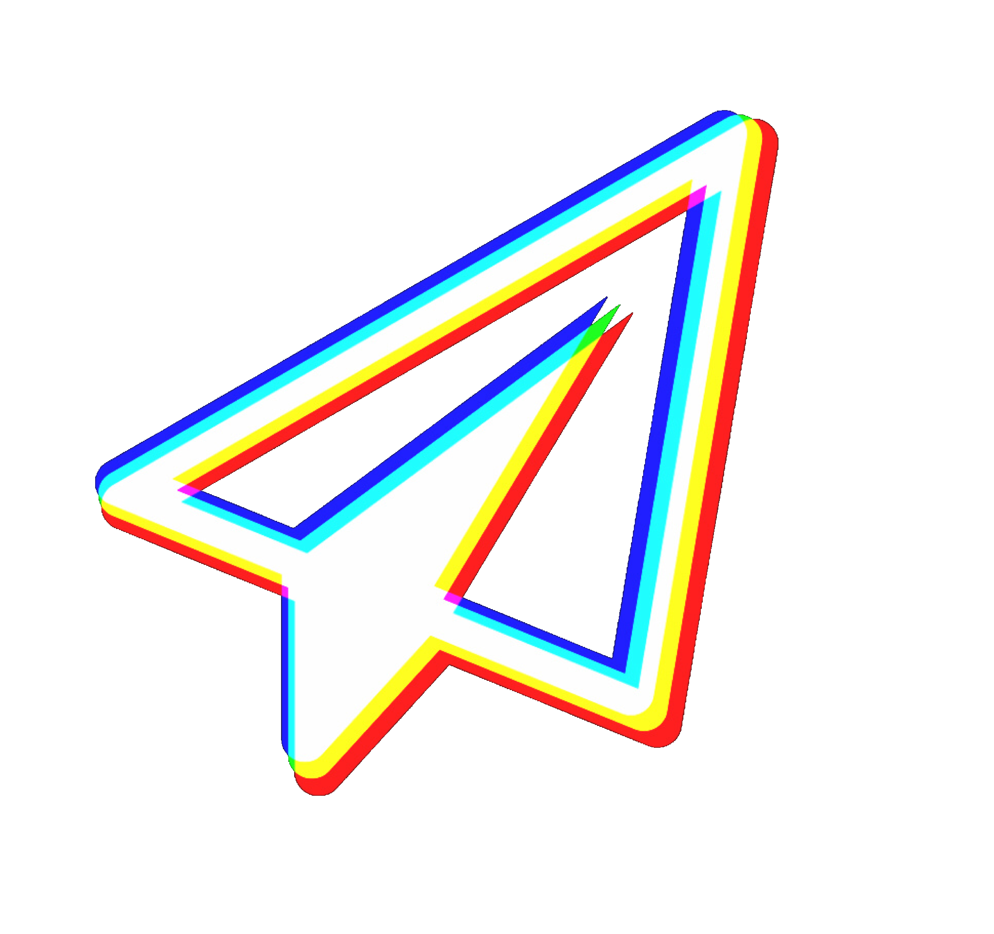 Paper Plane Airplane Mouse Arrow Vhs 3d 3deffect Tumblr