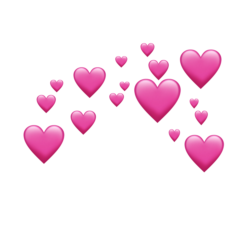 Heart Hearts Love Pink Emoji Remix Pixle22