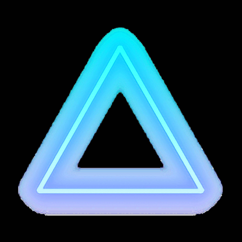 Triangle Blue Glow Light Shape Cool