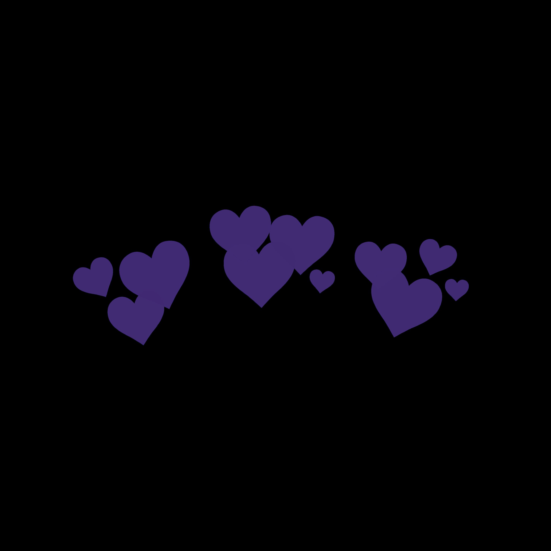 Purple Hearts Snapchat Filter Bynisha Decoration Intere