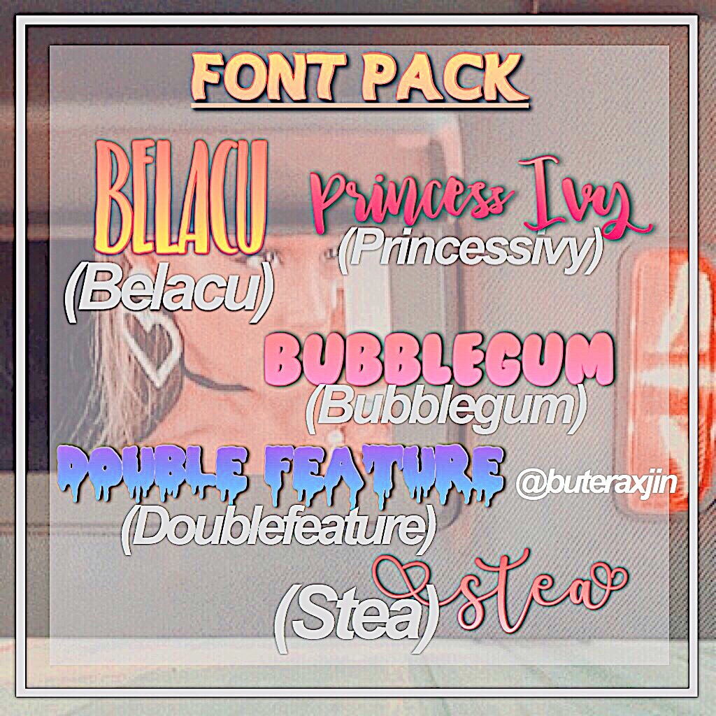 Download A font pack requested by @buteraxhoney ️ ️ ️ Tag...