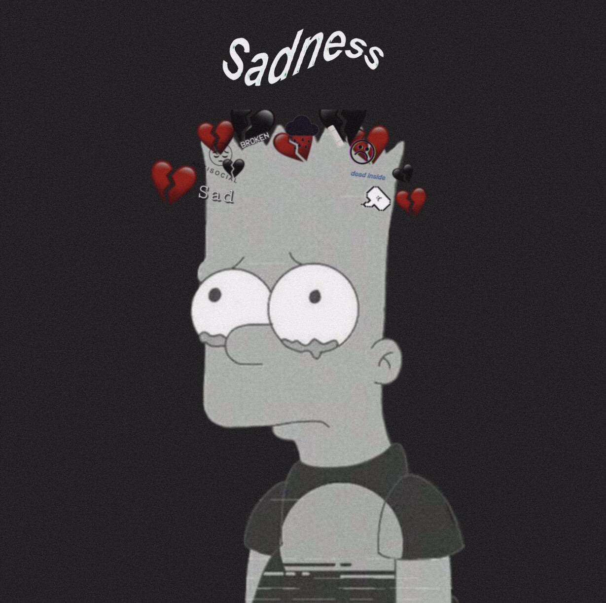 Hd Sad Wallpapers: Sadness. ️🥀 Sadness Wallpaper Simpsons Sadsimpso
