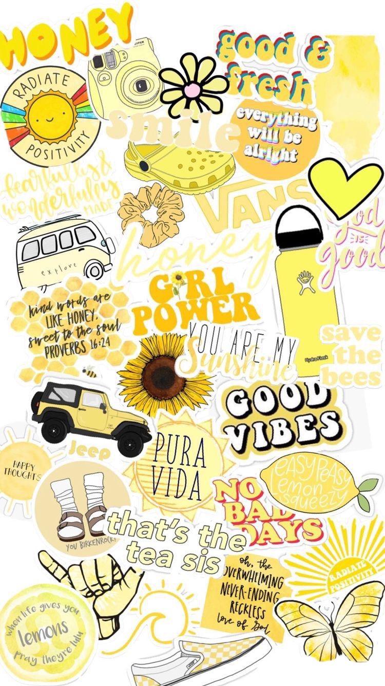 vsco wallpaper yellow cute freetoedit...