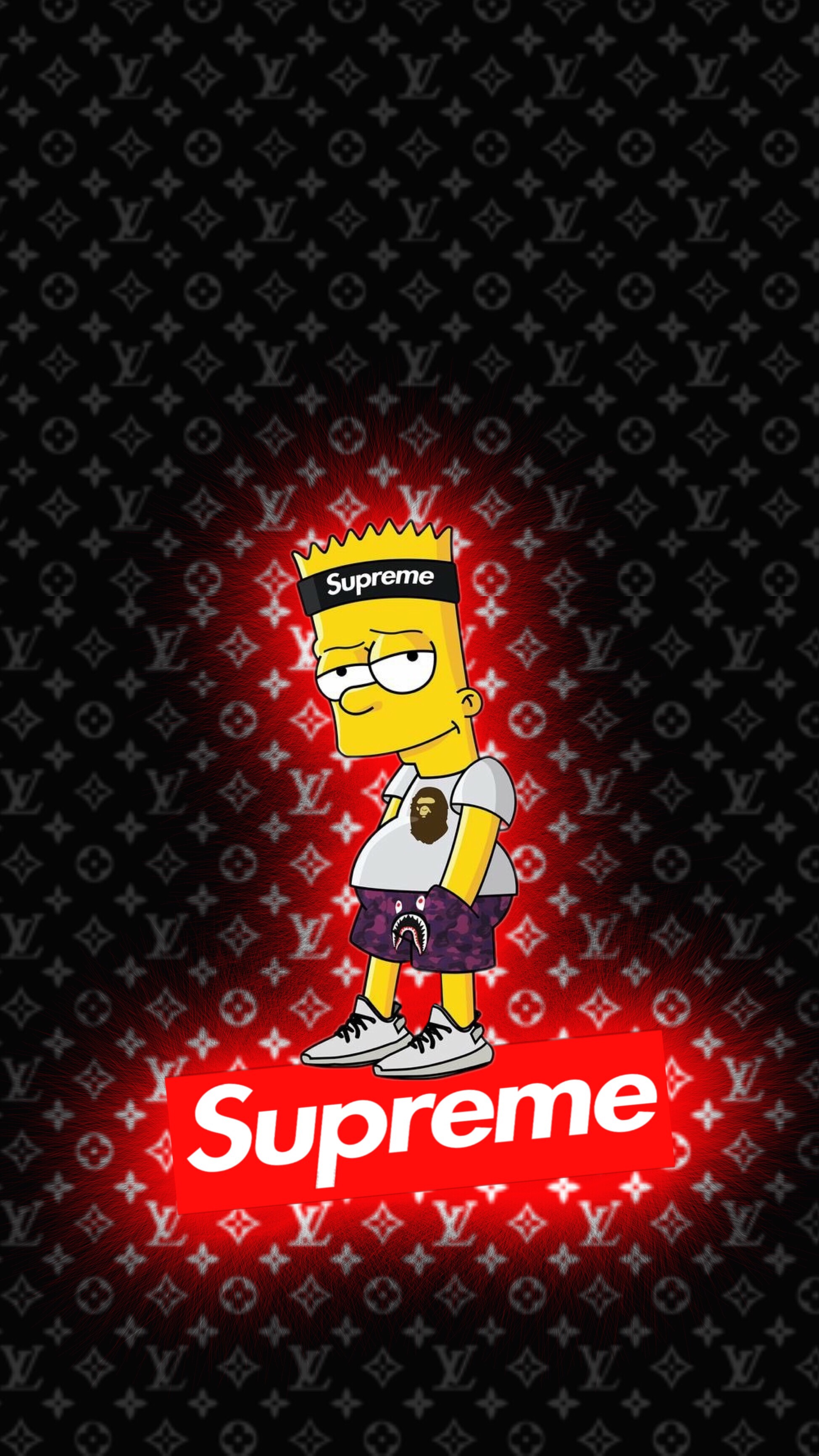 Freetoedit Wallpaper Lockscreen Bart Supreme