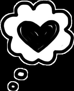 blackandwhite love heart cute freetoedit