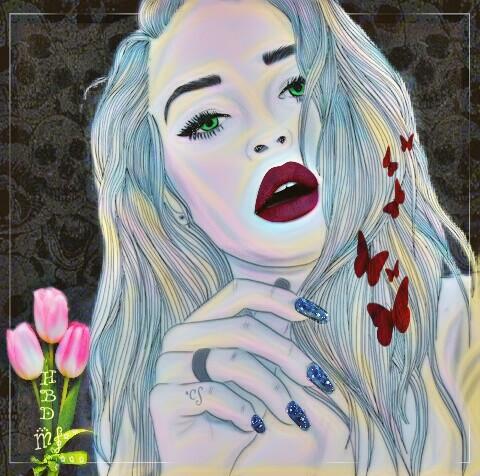 #FreeToEdit #meganfox #dailyremixit #remixit #happybirthday #highlightmagiceffect #vibranteffect #layersonlayers #skulls #butterflies #tulips #nailart