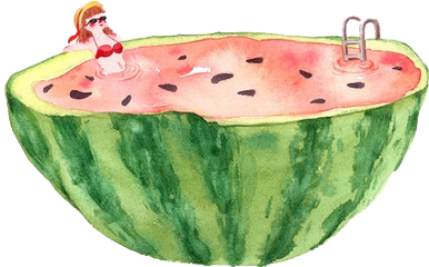 summer sandia watermelon freetoedit