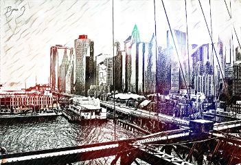 freetoedit city port drawing myart