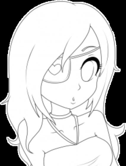 base anime girl animegirl eyepatch free starbucks flowe...