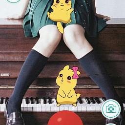 freetoedit picachu пикачу anime аниме.