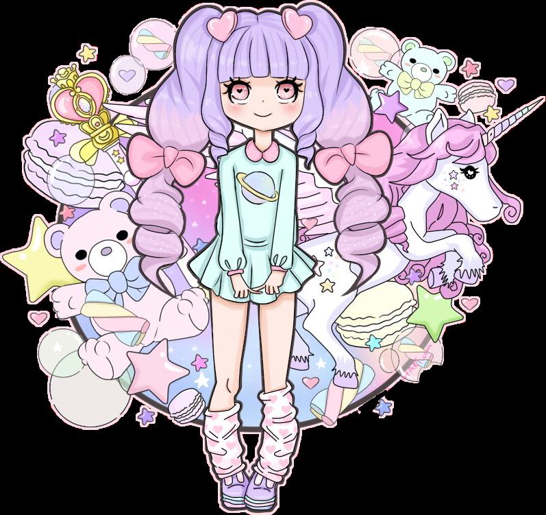Adorable Kawaii Cute Anime Unicorn Girl Anime Wallpapers