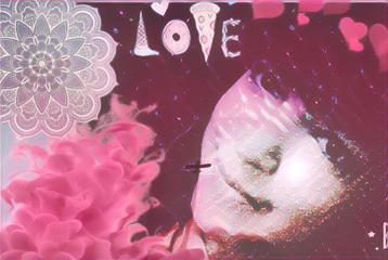 freetoedit pink love face