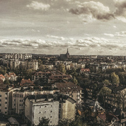 city panorama hdr sky clouds