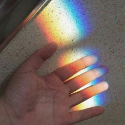 rainbowlight hand freetoedit rainbowlightcontest