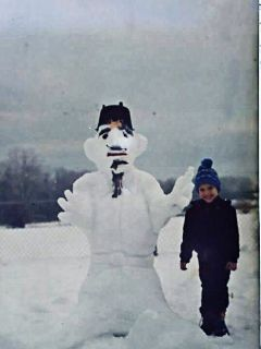 freetoedit me oldphoto snowman