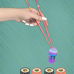 freetoedit starbucksremix chopsticks sushi chopsticksremix