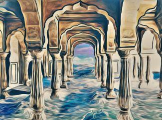 freetoedit artistic painting waves sea