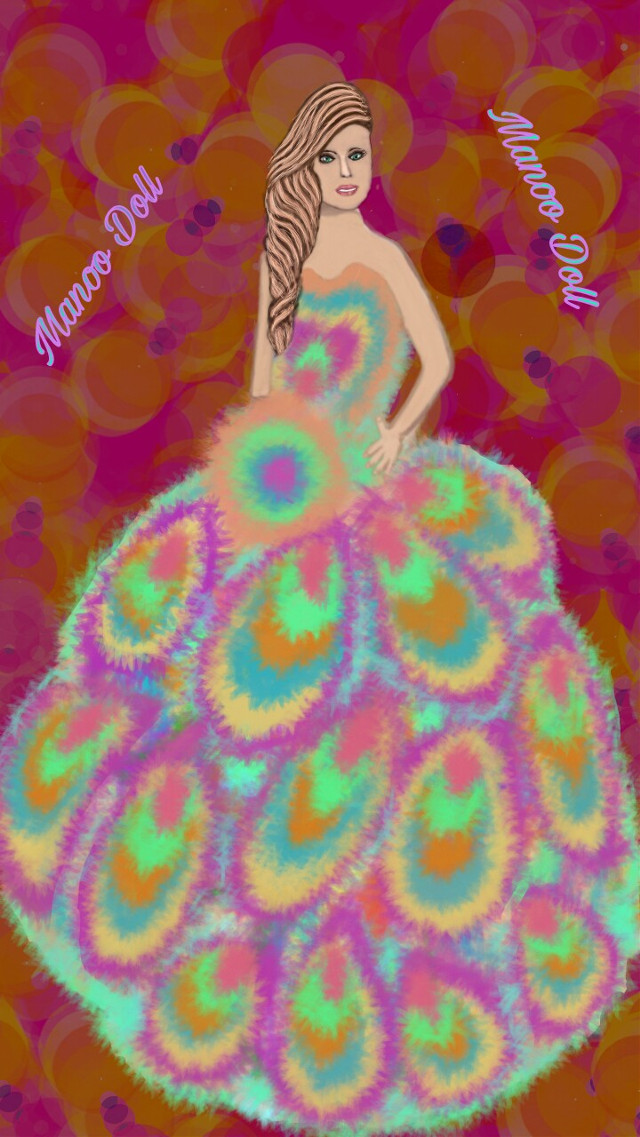 #wdppromdresses # drawing # my drawing # dress # peacock color's # style # fantastic #  @pa # used pa drawing tool # no sticker # no stamps # no clip art # step by step layer diagram of my drawing uploaded in my gallery