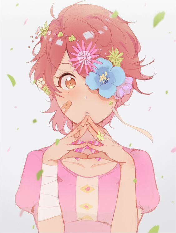 Flowers Anime Manga Fanart Kawaii Cute Animegirl Animeb