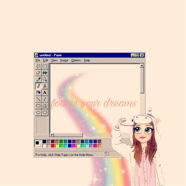 #followyourdream #unicorn #freetoedit  #tumblr