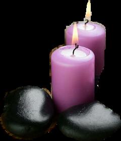sticker candles rocks flames freetoedit