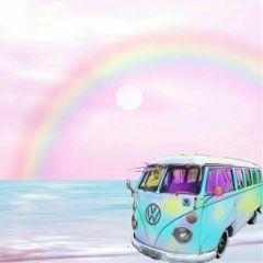 freetoedit kombi rainbow arcoíris art