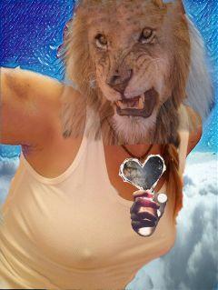 freetoedit heart lion galaxymagiceffect universe