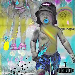 freetoedit children rainbowlightcontest grandchild myphoto