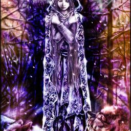 freetoedit gothicgirl wolves lightmasks starmask