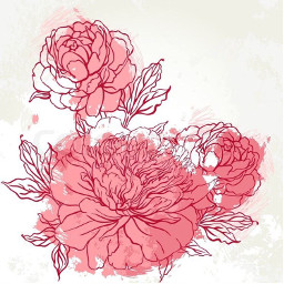 flower background flowers painting drawing