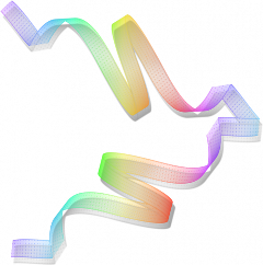 rainbow ribbon freetoedit
