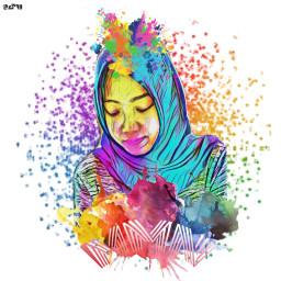 colorfull splashcolor freetoedit