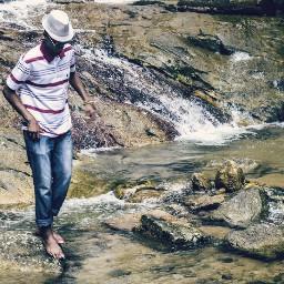freetoedit picsart malaysia trip waterfall