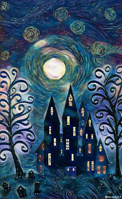 wdpvangoghsky drawing art starrynight nightsky