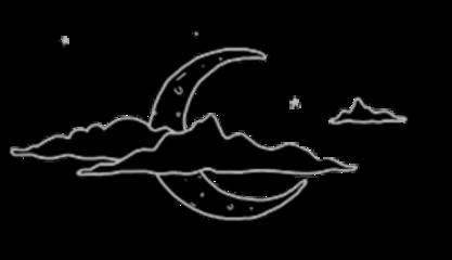 space cute cool spooky moon