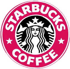 starbucks coffe logo pink tumblr