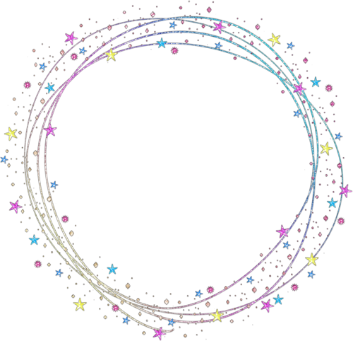 shapes circle frame overlay colorful sparkle glitter...