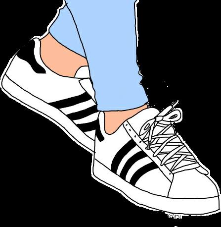 legs feet shoes adidas tumblr sticker by pennyann