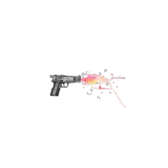hand-painted. restore pistol snatch gun