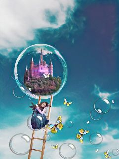 freetoedit overlay distortion fairy castle