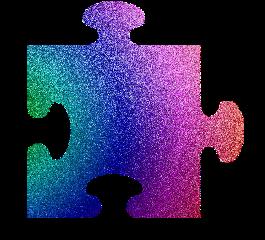 puzzle rainbow glitter
