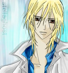 boy animeboy vampire blonde drawing